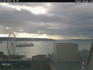 Puget Sound Cam Brooding Skies and Ferry