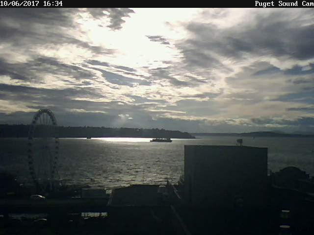 Puget Sound Cam Ships at Sunset