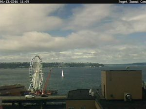 Puget Sound Cam Sailboat in the Sound
