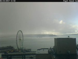 Puget Sound Cam Snow Rolling In