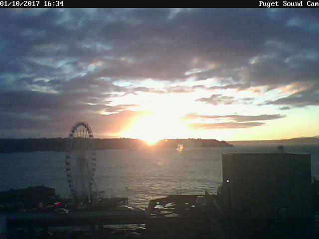Puget Sound Cam Winter Sunset