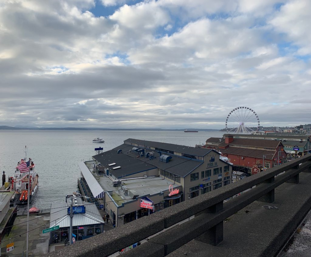 Seattle Waterfront Webcam Harbor View 02 02 2019