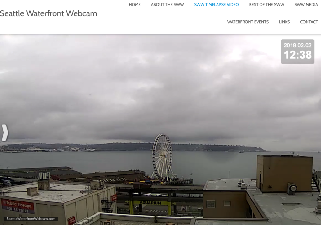 Seattle Waterfront Webcam Viaduct Walk Before Start 02 02 2019