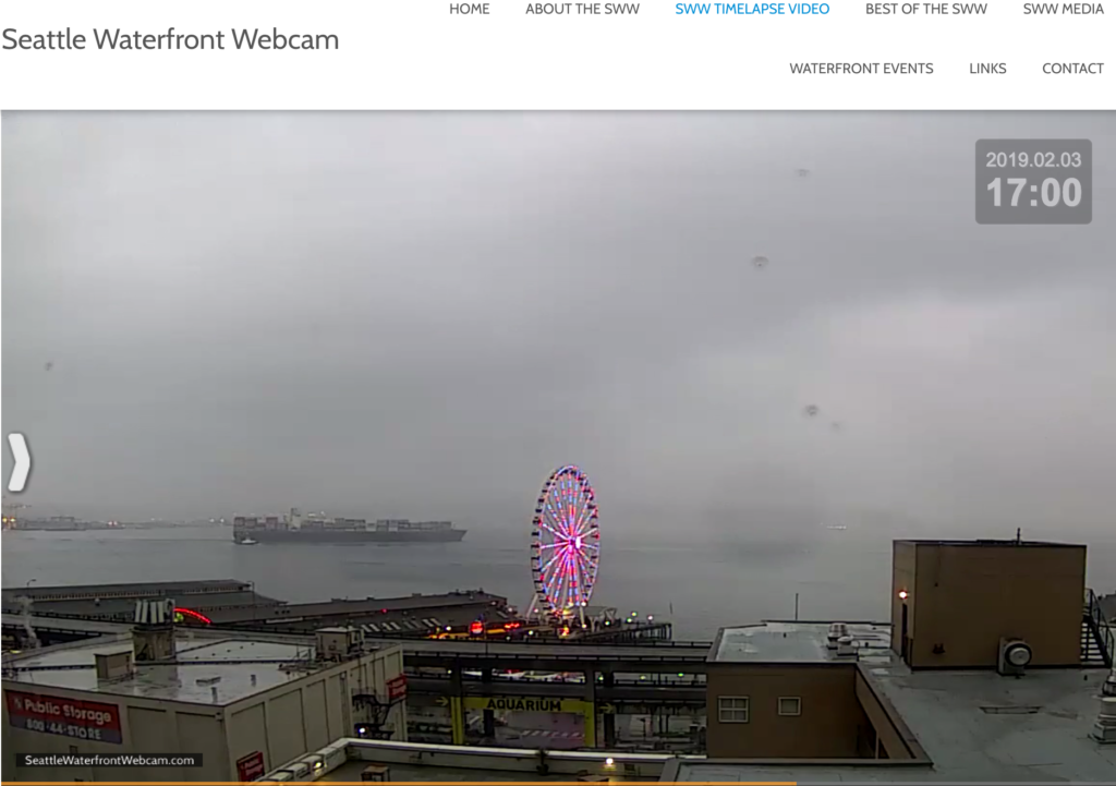 SWW Pink Wheel and Container Ship 02 03 2019