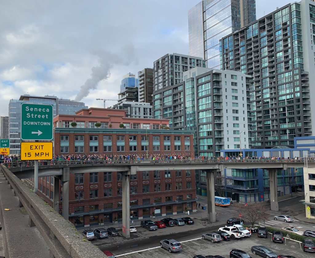 Seattle Waterfront Webcam Walking the Alaskan Way Viaduct 02 06 2019