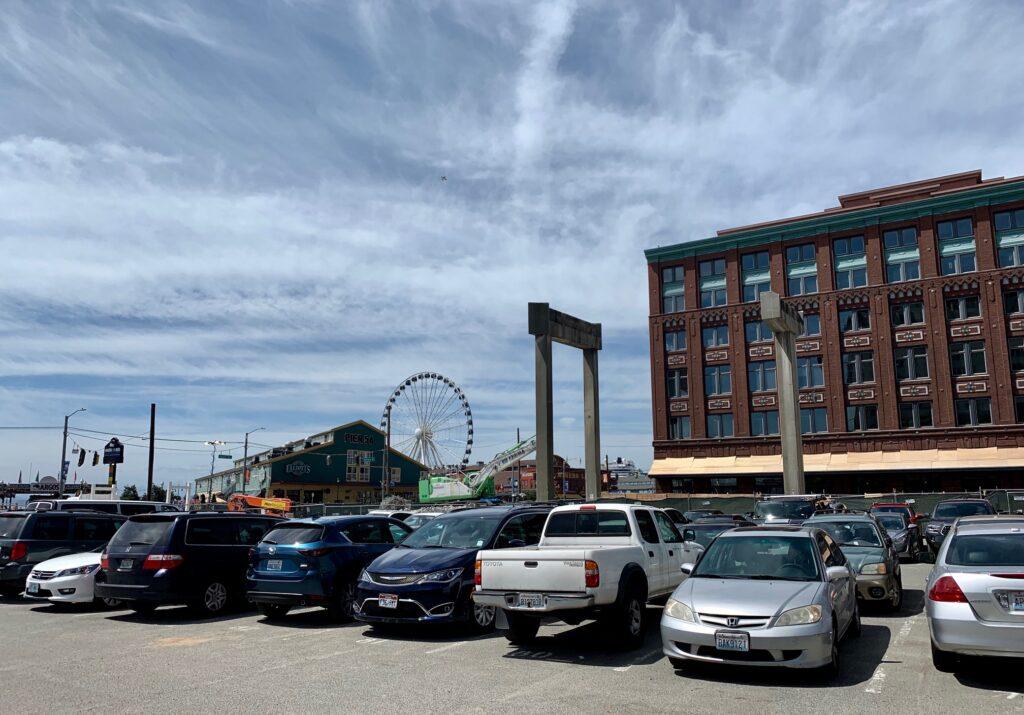 Seattle Waterfront Webcam SWW Seneca Street Overpass and Great Wheel 06 01 2019